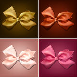 Satin color ribbons. Gift bows Royalty Free Stock Image