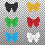 Satin colorful bows set Stock Images