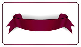 Satin empty ribbon banner Stock Images