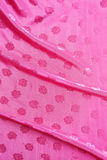 Satin fabric bright pink color is waves Royalty Free Stock Photography