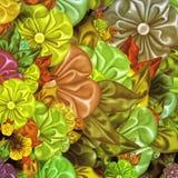 Satin flowers Stock Image