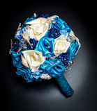 Satin flowers bouquet Royalty Free Stock Images