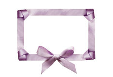 Satin frame and bow Royalty Free Stock Image