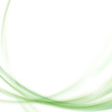 Satin green swoosh line background Stock Image
