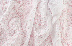 Satin & Lace. Satin and Lace can be used as a backdrop Stock Photo