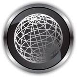 Satin noir - globe illustration libre de droits