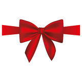 Satin red ribbon and bow wrapping. Illustration Royalty Free Stock Images