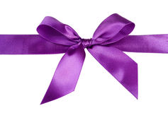 Satin ribbon bow Royalty Free Stock Image