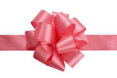 Satin ribbon bow Stock Photos