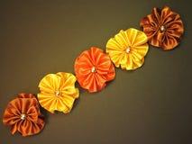 Satin ribbon-flowers Royalty Free Stock Image