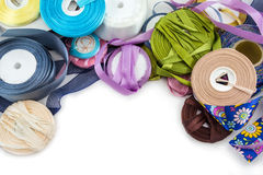 Satin ribbons Stock Images