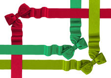 Satin ribbons with bows Royalty Free Stock Images