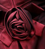 Satin Rose  Embellishment. Detailed view of  satin ribbon rose embellishment Royalty Free Stock Photos