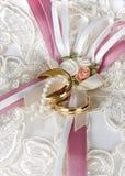 Satin roses Royalty Free Stock Photography
