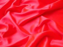 Satin rouge Image libre de droits