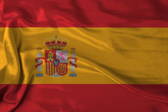 Satin Spain flag Stock Image