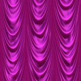 Satin theater curtains Royalty Free Stock Photo