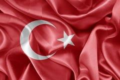 Satin Turkish flag Royalty Free Stock Photography