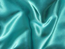 Satin turquoise material Stock Images