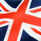 Satin UK flag Stock Photo