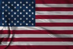 Satin USA flag Royalty Free Stock Photos