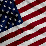 Satin USA-Markierungsfahne Lizenzfreie Stockfotos