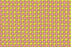 Satin weave. Yellow and pink color satin weave for trendy basket Royalty Free Stock Photography
