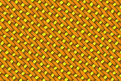 Satin weave texture. Orange and yellow color twill weave Stock Photo