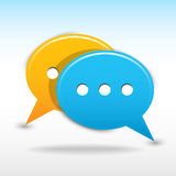 Satin web 2.0 button speech bubbles icon. Royalty Free Stock Photo