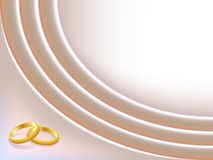 Satin wedding background with rings Royalty Free Stock Image