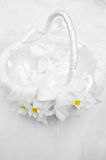 Satin wedding basket Royalty Free Stock Images
