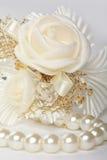 Satin wedding rose Royalty Free Stock Photography