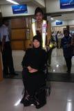 Satinah ontsnapte aan de doodstraf Royalty-vrije Stock Foto's