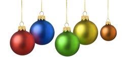 Satinfarben-Weihnachtskugeln Lizenzfreie Stockfotografie