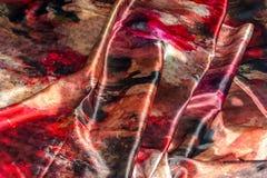 Satiny τσαλακωμένο υπόβαθρο υφάσματος Στοκ Εικόνες