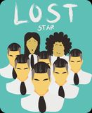 Lost Star- When Your style make it stuck in the middle know where vector illustration