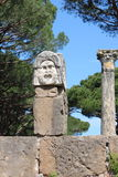 Satiric mask in Ostia Antica Royalty Free Stock Photo