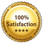 satisfação 100% Imagem de Stock