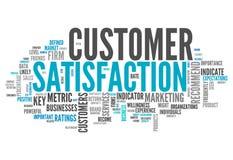 Satisfação do cliente da nuvem da palavra ilustração do vetor