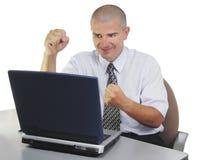 Satisfação do computador Fotos de Stock
