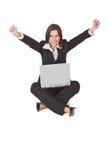 Satisfação do computador Fotografia de Stock Royalty Free