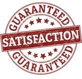 Satisfação garantida em volta do selo Foto de Stock Royalty Free