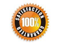 A satisfação garantiu 100% ilustração do vetor