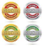 Satisfacción del cliente garantizada stock de ilustración