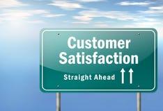 Satisfacción del cliente del poste indicador de la carretera libre illustration
