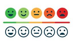 Satisfacción del grado Reacción en la forma de emociones libre illustration