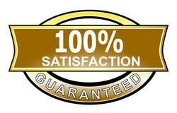 satisfaction 100% garantie Image stock
