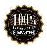 satisfaction 100% garantie Images libres de droits