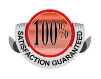 satisfaction 100% garantie Photo libre de droits