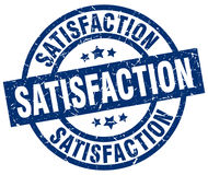 Satisfaction blue round stamp Royalty Free Stock Photography
